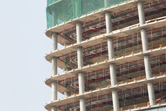 Skyscraper construction site detail Royalty Free Stock Photography