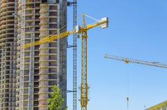 Skyscraper Construction site Stock Photo