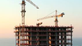 Skyscraper construction. Time lapse stock video footage