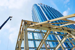 Skyscraper in  construction site Royalty Free Stock Photography