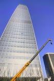 Skyscraper and crane Stock Photo