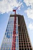 Skyscraper with crane Stock Photo