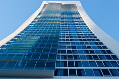 Skyscraper detail. Tall skyscraper with glass facade in Surfers Paradise, Queensland, Australia Royalty Free Stock Photo