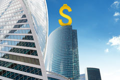 Skyscraper with dollar sign Stock Images