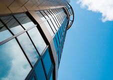 Skyscraper in the downtown. Sky background Royalty Free Stock Image