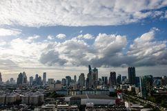 Skyscraper, downtown, Bangkok cityscapes, white cloud, Thailand. The skyscrapers in downtown Bangkok cityscapes, the capital of Thailand in southeast Asia, with royalty free stock images