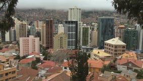 Skyscraper in downtown La Paz, Bolivia (2) stock video