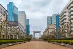 Skyscraper on the Esplanade De La Defense in Paris Stock Photography