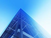 Skyscraper facade. 3d modern city street urban style series Stock Photos