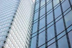 Skyscraper facade. A modern skyscraper facade, downtown stock image