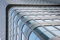 Skyscraper facade. Futuristic modern skyscraper facade, downtown royalty free stock image