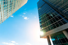 Skyscraper facade office buildings modern glass Stock Images