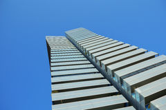 Skyscraper form below. Blue sky and empty copy space Royalty Free Stock Image