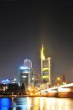 Frankfurt bank headquarters skyscrapers Royalty Free Stock Photos