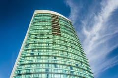 Skyscraper in the Gaslamp Quarter, San Diego, California. Stock Photos