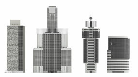 Skyscraper isolated Stock Images
