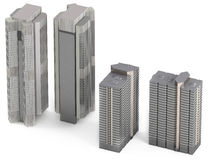 Skyscraper isolated Stock Photos