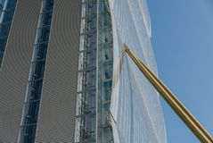 The skyscraper known as Allianz Building in the new CItylife are Stock Photo