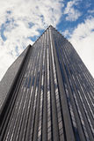 Skyscraper low angle view in New York City Royalty Free Stock Photos