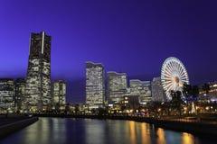Skyscraper at Minatomirai, Yokohama in the twilight Stock Photography