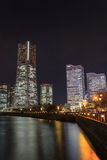 Skyscraper at Minatomirai, Yokohama in the twilight Royalty Free Stock Photography