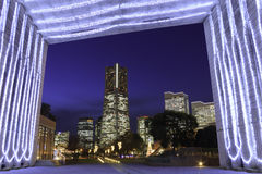 Skyscraper at Minatomirai, Yokohama in the twilight Royalty Free Stock Image