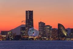 Skyscraper at Minatomirai, Yokohama in the twilight Royalty Free Stock Photos