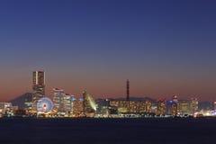 Skyscraper at Minatomirai, Yokohama in the twilight Stock Photo