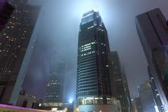 Skyscraper in mist Royalty Free Stock Photos