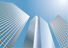 Skyscrapers - business background Royalty Free Stock Photos