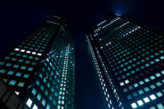 Skyscraper at Night Stock Photos