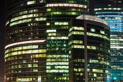 Skyscraper at night Royalty Free Stock Photo