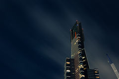 Skyscraper at night Stock Photography