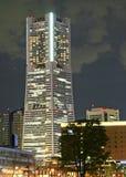 Skyscraper night shot. A night shot of the Yokohama landmark tower in Japan stock image