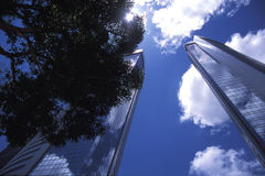 Skyscraper at Noon Stock Photos