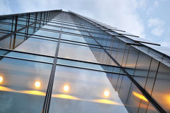Skyscraper, office building. With glass walls Royalty Free Stock Photo