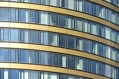 Skyscraper, office building, windows. Skyscraper, office building with glass walls, detail Royalty Free Stock Image