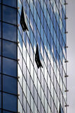 Skyscraper, office building, windows. Skyscraper, office building with glass walls, detail Stock Photography