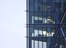 Skyscraper office corner stock photos