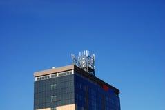 skyscraper over blue sky Stock Photos