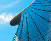 Skyscraper over blue sky Stock Photography