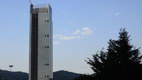 The skyscraper of the Piedmont Region designed by Massimiliano Fuksas. Urin, Piedmont region, Italy. 24 April 2018. The skyscraper of the Piedmont Region stock footage