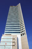 Skyscraper with polish flag Stock Photo