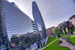 Skyscraper at Porta Nuova in Milan, Italy Stock Photography
