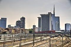 Skyscraper at Porta Nuova in Milan, Italy Stock Photo