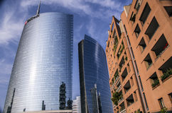 Skyscraper at Porta Nuova in Milan, Italy Stock Photos