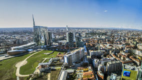 Skyscraper at Porta Nuova in Milan, Italy Stock Image