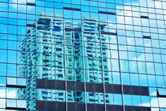 Skyscraper reflection. S - conceptual architecture background.  Could suggest stress, eyesight problems, texture Royalty Free Stock Photography