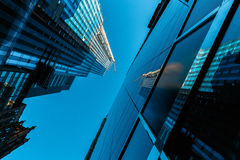 Skyscraper reflection blue sky. No clouds Royalty Free Stock Image