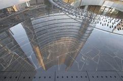 Skyscraper reflection at business hub, Milan Royalty Free Stock Photos